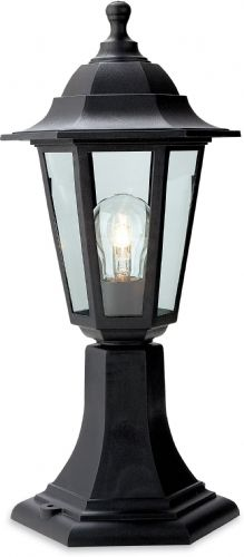 Firstlight 8350BK Black Resin Malmo Lantern - Pillar
